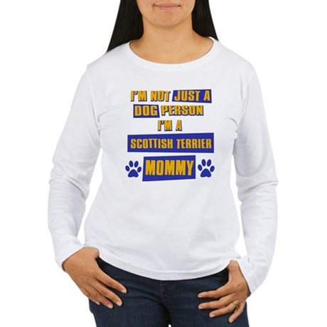 Scottish Terrier Mommy Women's Long Sleeve T-Shirt