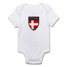 Denmark Flag Patch Infant Bodysuit