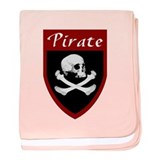 Pirate Red Patch baby blanket