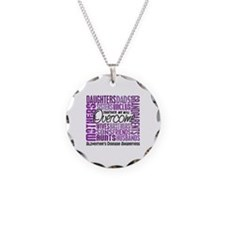 Family Square Alzheimer's Necklace