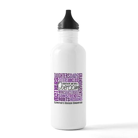 Family Square Alzheimer's Stainless Water Bottle 1