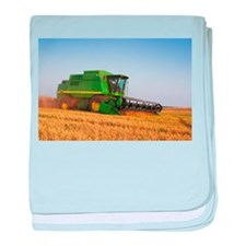 Combine in the Field baby blanket