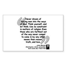 Wesley Religion Quote Decal
