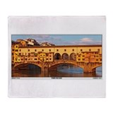 Ponte Vecchio Throw Blanket