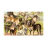 Dog Group From Antique Art 38.5 x 24.5 Wall Peel