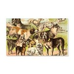 Dog Group From Antique Art 22x14 Wall Peel