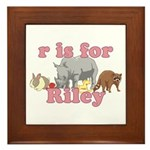 R is for Riley Framed Tile