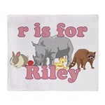 R is for Riley Throw Blanket