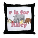 R is for Riley Throw Pillow