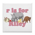 R is for Riley Tile Coaster