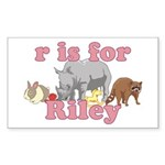 R is for Riley Sticker (Rectangle 50 pk)