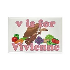 V is for Vivienne Rectangle Magnet (10 pack)
