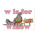 W is for Willow Postcards (Package of 8)