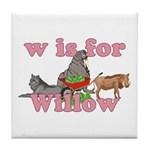 W is for Willow Tile Coaster