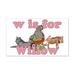 W is for Willow 22x14 Wall Peel