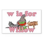 W is for Willow Sticker (Rectangle 50 pk)