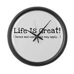Life is Great! Large Wall Clock