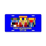 USS Lexington CV-16 Aluminum License Plate