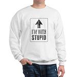 Vintage I'm With Stupid [u] Sweatshirt