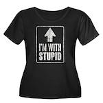 Vintage I'm With Stupid [u] Women's Plus Size Scoo