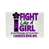 Fight Like A Girl Fibromyalgia Rectangle Magnet