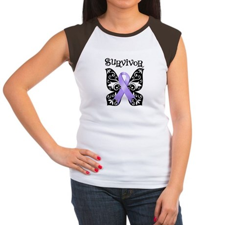 Butterfly Cancer Survivor Women's Cap Sleeve T-Shi