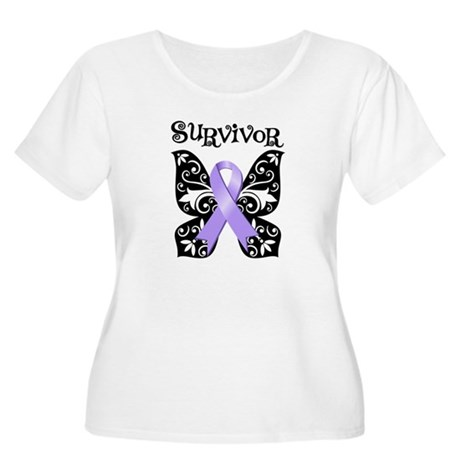 Butterfly Cancer Survivor Women's Plus Size Scoop
