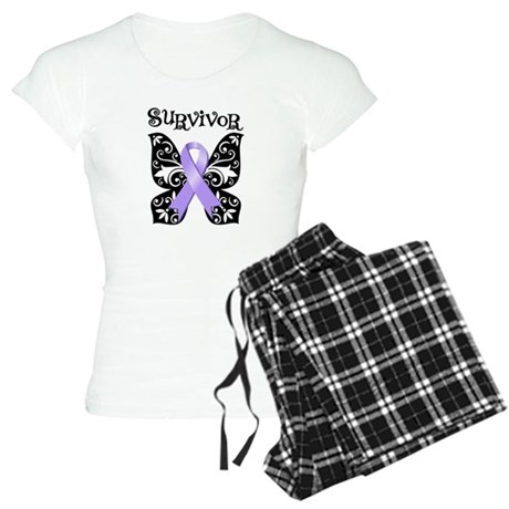 Butterfly Cancer Survivor Women's Light Pajamas