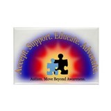 Beyond Awareness (Autism) Rectangle Magnet