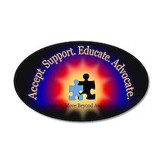 Beyond Awareness (Autism) Dk 22x14 Oval Wall Peel