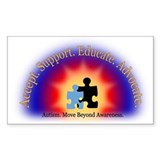 Beyond Awareness (Autism) Bumper Stickers
