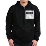 Barcode - Priced Just Right Zip Hoodie (dark)