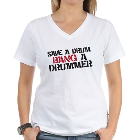 Save a drum Women's V-Neck T-Shirt