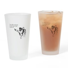 Office Workouts Pint Glass