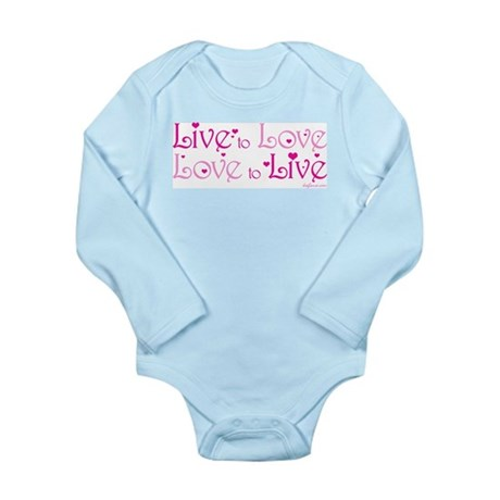 Live to Love Long Sleeve Infant Bodysuit