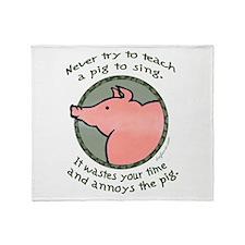 Singing Pig Throw Blanket
