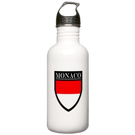 Monaco Flag Patch Stainless Water Bottle 1.0L