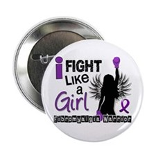 "Fight Like A Girl Fibromyalgia 2.25"" Button"