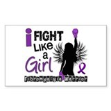 Fight Like A Girl Fibromyalgia Decal