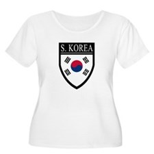 South Korea Flag Patch T-Shirt