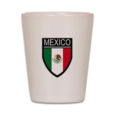 Mexico Flag Patch Shot Glass