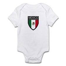 Mexico Flag Patch Infant Bodysuit