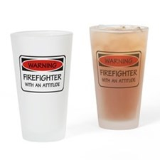 Firefighter With An Attitude Pint Glass
