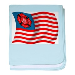 American Firefighter baby blanket