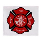 Firefighter Emblem Throw Blanket