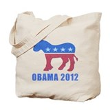 Obama 2012 Reusable Canvas Tote Bag