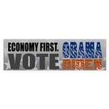 Economy First Vote Obama Biden Bumper Bumper Sticker