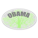 Obama Biden Oval Bumper Stick Decal
