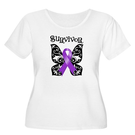 Butterfly Lupus Survivor Women's Plus Size Scoop N