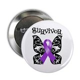 "Butterfly Lupus Survivor 2.25"" Button"